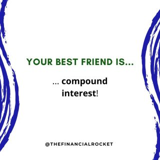 ⭐ Compound interest is your best friend. Make sure to spend time with him in 2021 😁 . Follow 💥 @thefinancialrocket 👈🏾 for more financial inspiration! . Comment 🤔 down below: Do you agree? . ............  ✔ Follow Me @thefinancialrocket  ✔ Share with a friend!  ............