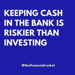 ⭐ Holding too much cash is a risk. Do you agree?  . Follow 💥 @thefinancialrocket 👈🏾 for more financial inspiration! . ............  ✔ Follow Me @thefinancialrocket  ✔ Share with a friend!  ............