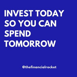 ⭐ Invest today so you can spend tomorrow. Use compound interest to build your wealth.  . Follow 💥 @thefinancialrocket 👈🏾 for more financial inspiration! . ............  ✔ Follow Me @thefinancialrocket  ✔ Share with a friend!  ............