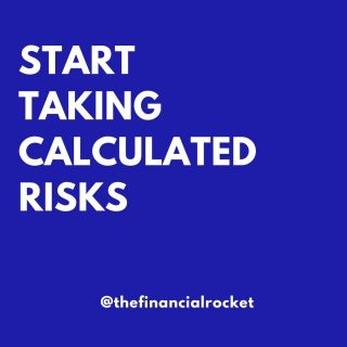 ⭐ If we do not take risks in life, we do not evolve. Would you agree? . Follow 💥 @thefinancialrocket 👈🏾 for more financial inspiration! . ............  ✔ Follow Me @thefinancialrocket  ✔ Share with a friend!  ............